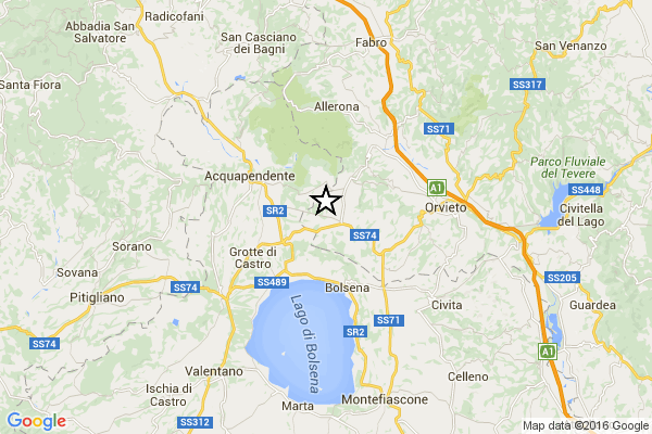 Forte terremoto al Centro Italia: paura tra Toscana e Umbria, magnitudo 4.1 [MAPPE e DATI INGV]